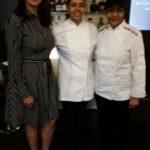 Esperanza Lithgow junto a la chef dominicana Maria Marte