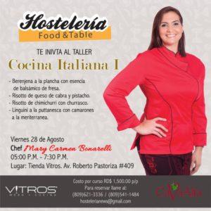 Taller de cocina italiana con Mary Carmen Bonarelli